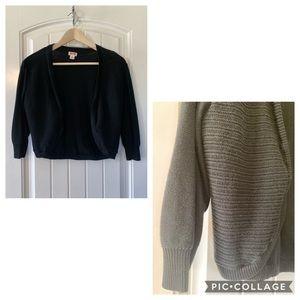 Black sweater shrug